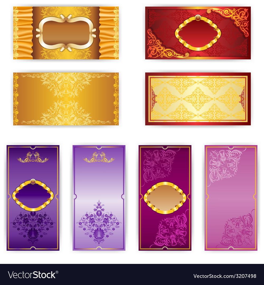 Set of elegant template luxury invitation vector | Price: 1 Credit (USD $1)