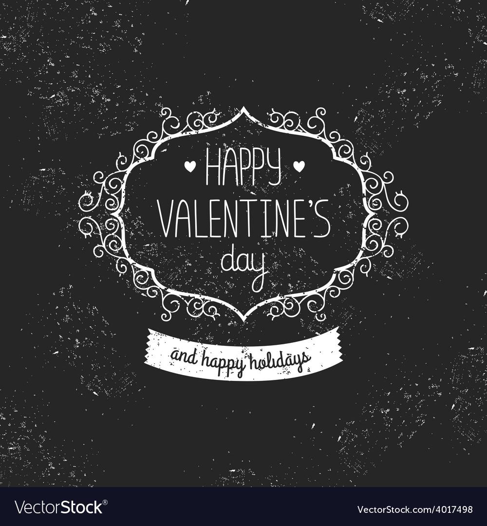 Vintage love card happy valentines day vector | Price: 1 Credit (USD $1)