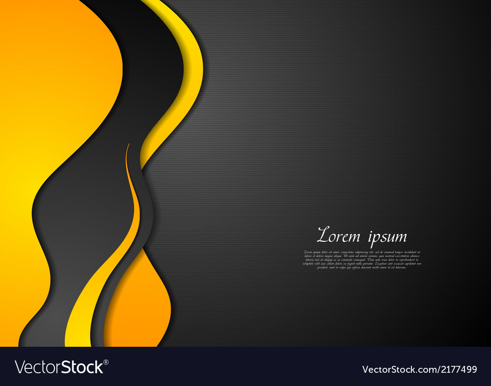 Abstract black and yellow waves vector | Price: 1 Credit (USD $1)