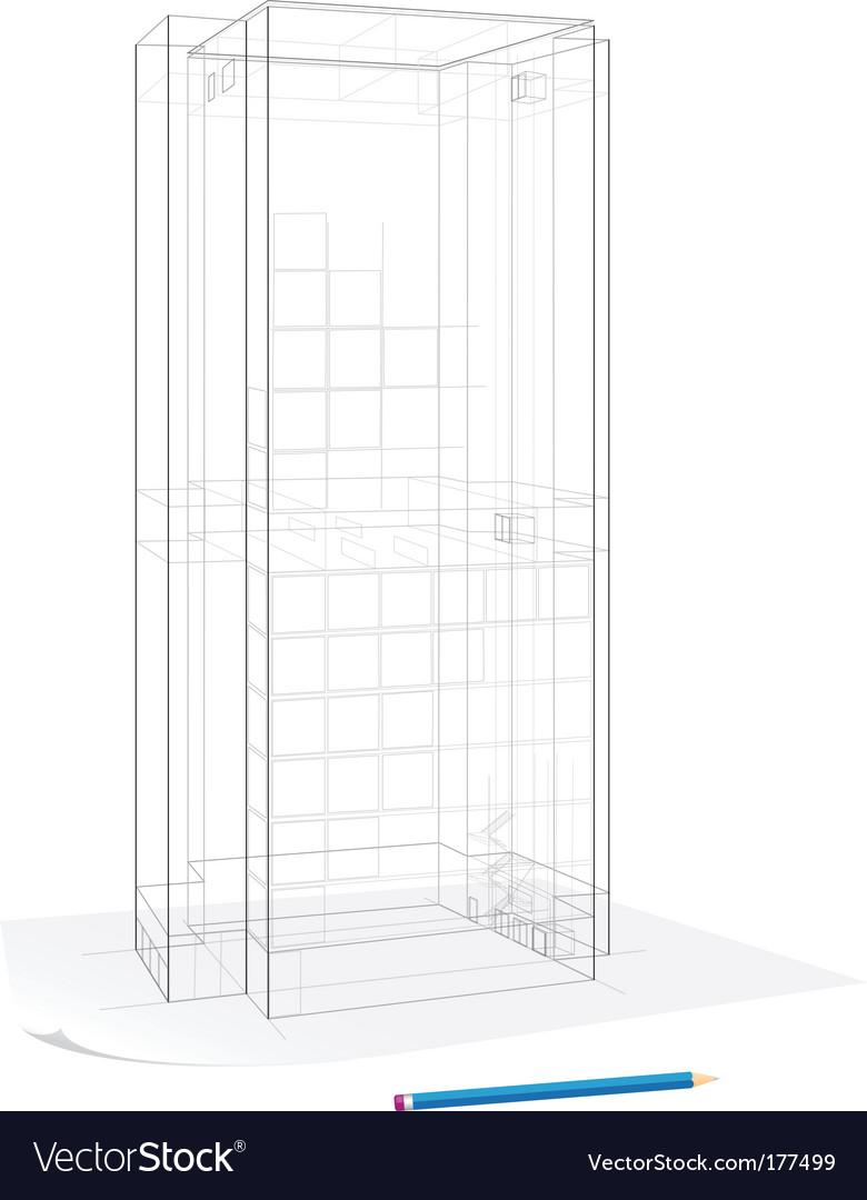 Building sketch vector | Price: 1 Credit (USD $1)
