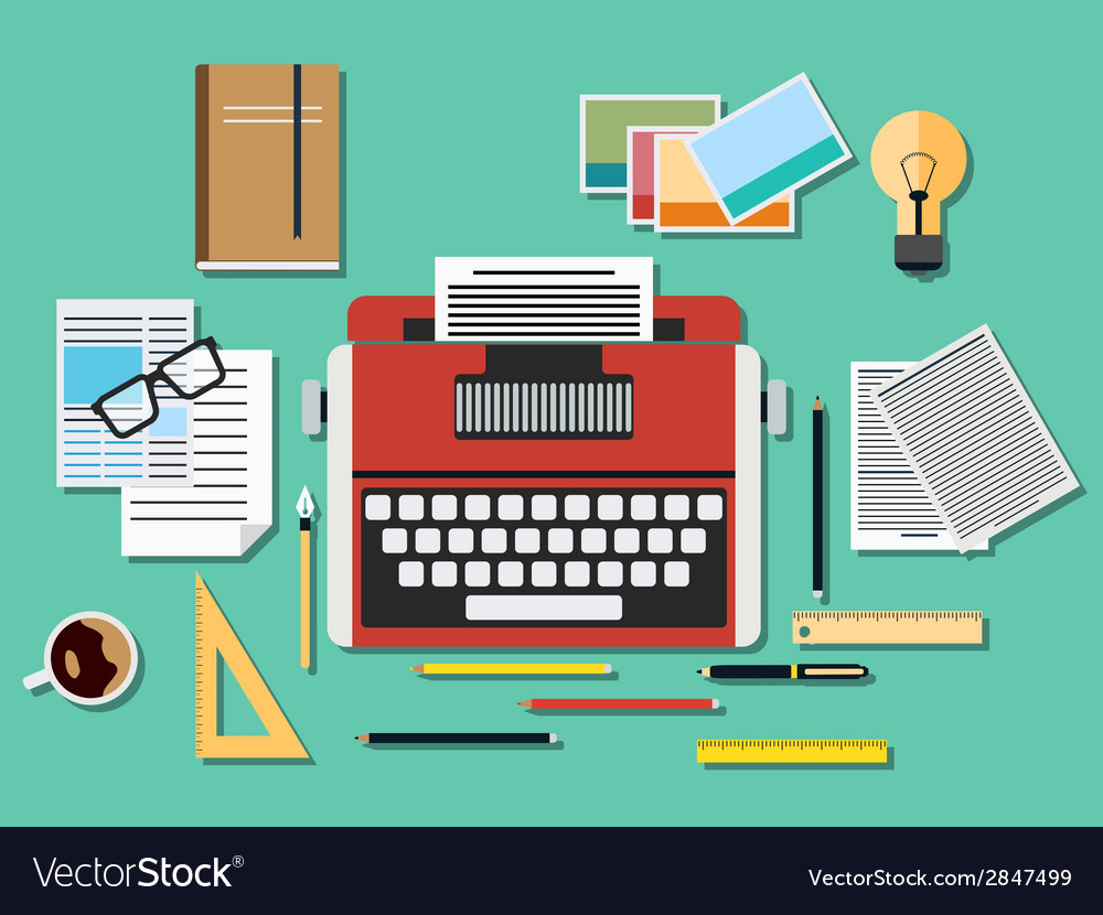 Editor workplace vector | Price: 1 Credit (USD $1)