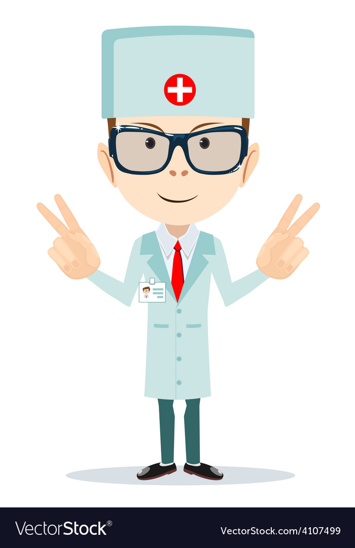 Friendly doctor - dentist vector | Price: 1 Credit (USD $1)