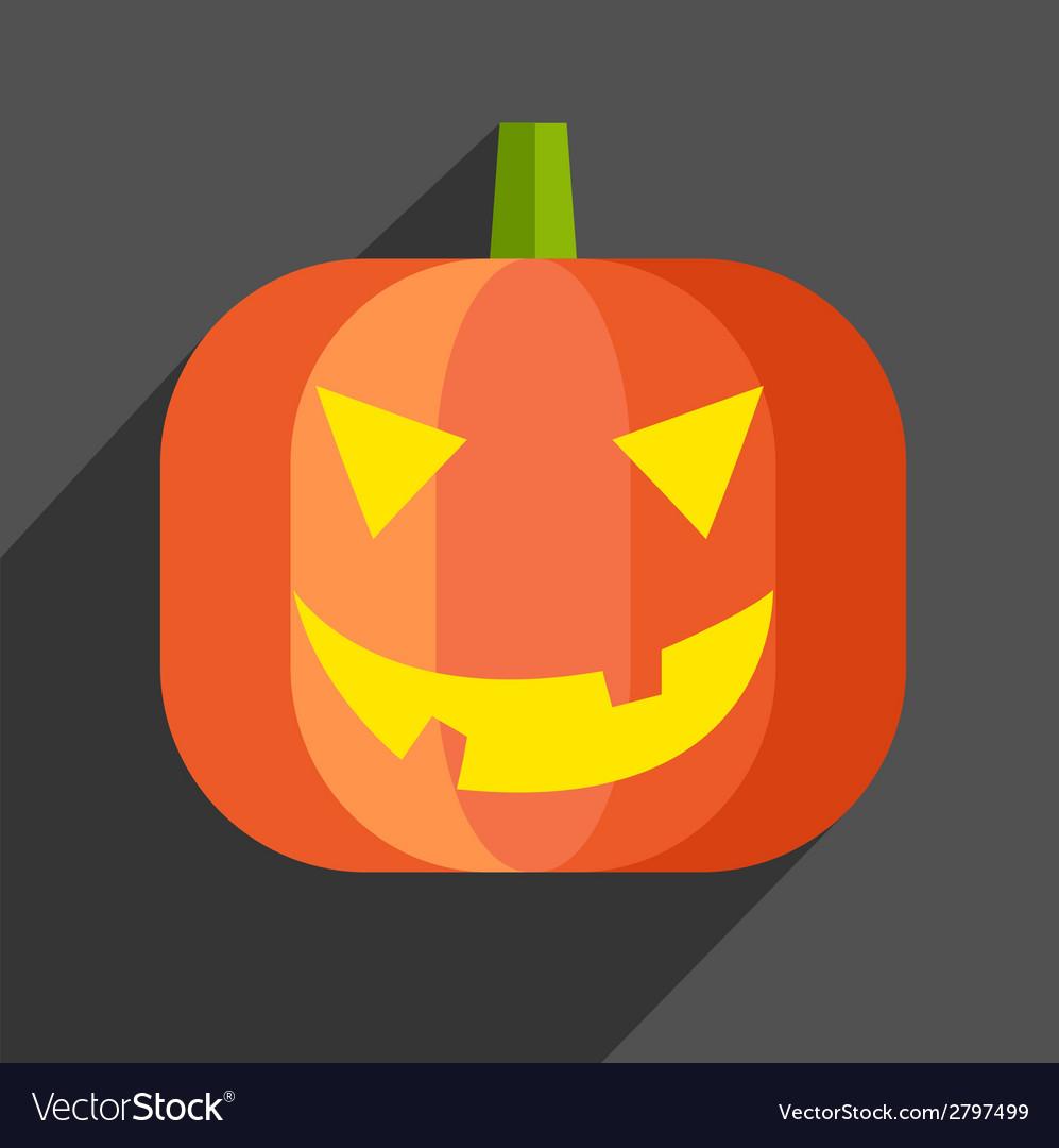 Halloween pumpkin icon vector | Price: 1 Credit (USD $1)