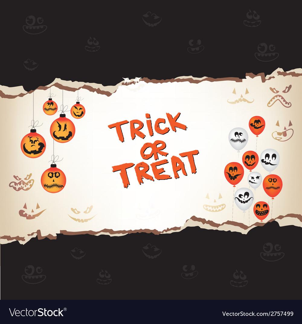 Halloween trick or treat paper vector | Price: 1 Credit (USD $1)