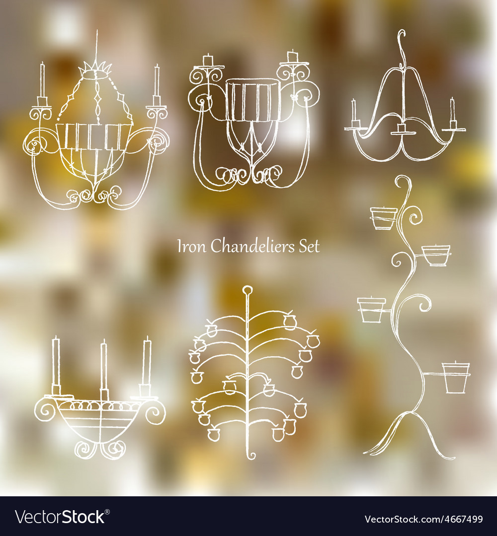 Iron chandeliers set vector | Price: 1 Credit (USD $1)