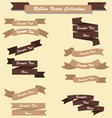 Ribbon set collection chocolate brown vector