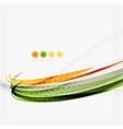 Orange and green wave line design nature eco vector