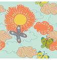 Vintage sunflower background vector
