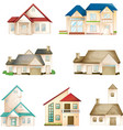Various houses vector