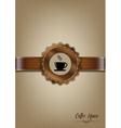 Brown coffee house menu design vector