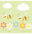 Baby background with bees vector