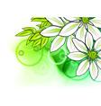 Watercolor flower vector