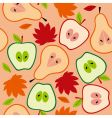 Autumn fruit seamless vector