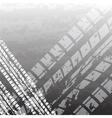 Black tire track vector