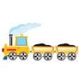 Locomotive carries cargo vector