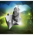 Abstract 3d pyramid geometric colorful triangle vector