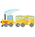 Locomotive with coach vector