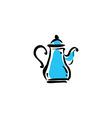 Teapot icon on white background vector