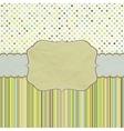 Vintage polka dots card vector