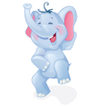 Funny cartoon elephant vector