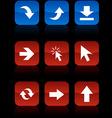 Arrows buttons vector