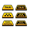Taxi logo set vector