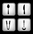 Set cutlery vector