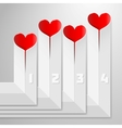 Valentines day infographics with hearts on vector