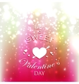 Holiday with red hearts and sparkles have a sweet vector