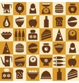 Brown kitchenware seamless vector