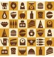 Brown kitchenware seamless vector