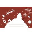 Holiday post card design with santa vector