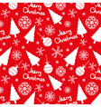 Seamless pattern of christmas elements on a red vector