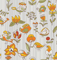 Flowers and birds seamless texture pattern vector