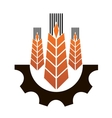 Icon depicting industry and agriculture vector