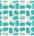 Audio cassette seamless pattern vector
