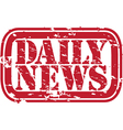 Daily news stamp vector