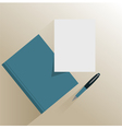 Book paper and pencil vector