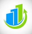 Business finance graph logo vector