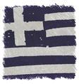 Flag of greece handmade square shape vector
