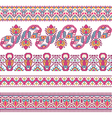 Cross-stitch ethnic ukraine pattern vector