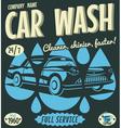 Retro car wash sign vector