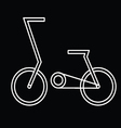 Abstract bicycle vector