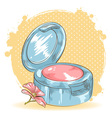Skincare make-up blusher isolated card vector