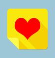 Notepad heart vector