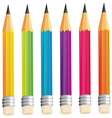 A group of sharp pencils vector