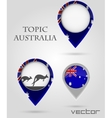 Topic australia map marker vector