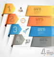 Abstract arrow infographics template vector