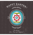 Brown greetings card with easter egg vector