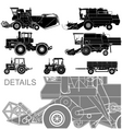 Agricultural vehicles vector
